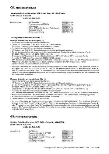 SER 2100 D/GB - Grundig-info.de