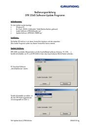 Operating Instructions Software-Update-Tool DTR 2540 - Grundig