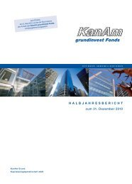 HAlbjAHresbericHt zum 31. Dezember 2010 - KanAm Grund