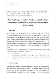 Referat Symposium zu Fanfragen und Fanarbeit ... - Grundrechte.ch