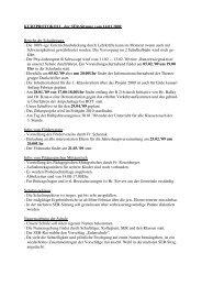 Protokoll der SER-Sitzung vom 14. Januar 2009 - Die Grundschule ...