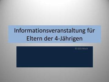 Informationsveranstaltung für Eltern der 4-Jährigen - Grundschule ...