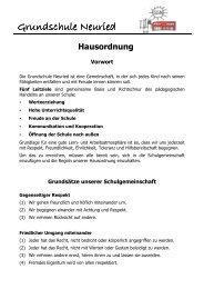 Hausordnung - Grundschule Neuried