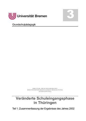 Veränderte Schuleingangsphase in Thüringen - Universität Bremen