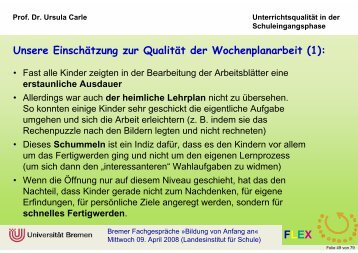 Teil 3 - Arbeitsgebiet Grundschulpädagogik - Universität Bremen