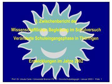 Folien zum dritten Zwischenbericht - Universität Bremen