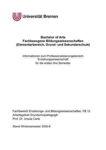 Elementarbereich, Grund- und Sekundarschule - Arbeitsgebiet ...