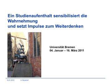 Gastaufenthalt an der Universität Bremen 2011
