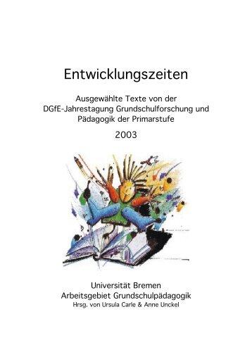 Entwicklungszeiten - Arbeitsgebiet Grundschulpädagogik ...