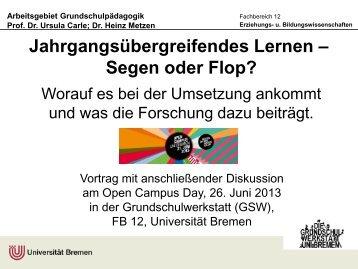 Download - Arbeitsgebiet Grundschulpädagogik - Universität Bremen