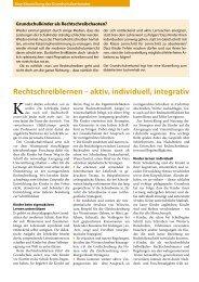 Rechtschreiblernen – aktiv, individuell, integrativ - Grundschulverband