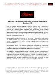 Noche de casino a beneficio Club Leones Queretaro - Grupo Caliente