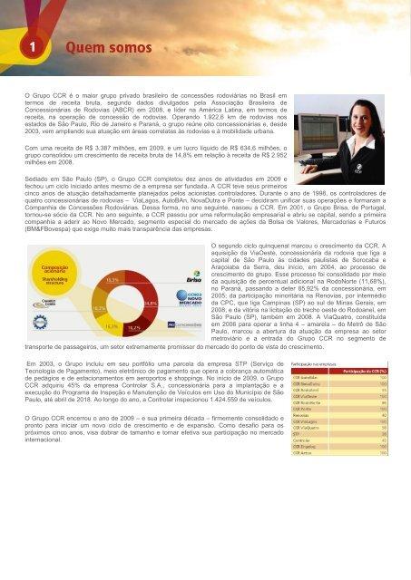 Relatório Anual - Grupo CCR