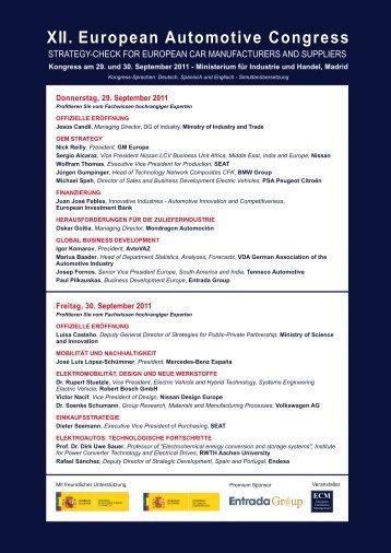 XII. European Automotive Congress - Ecm European Conference ...