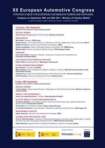 XII European Automotive Congress - Ecm European Conference ...
