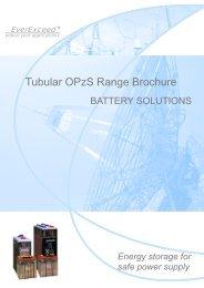 Tubular OPzS Range Brochure