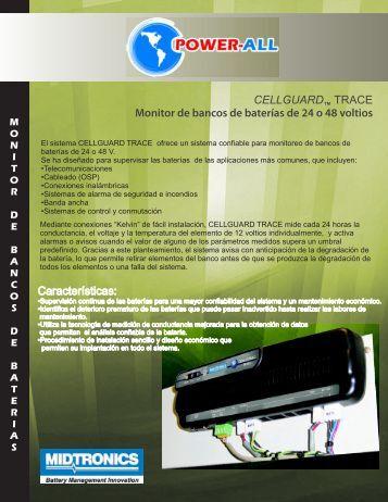 CELLGUARD TRACE Monitor de bancos de baterías de 24 o 48 ...