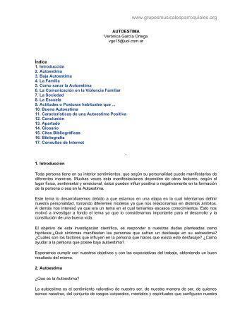 3. Autoestima - Grupos Musicales Parroquiales