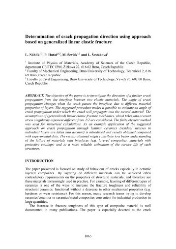 Determination of crack propagation direction using approach based ...
