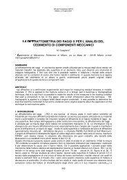 Politecnico di Milano LA DIFFRATTOMETRIA DEI RAGGI X PER L ...