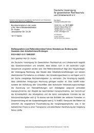 Stellungnahme vom 19. November 2001 zum ... - GRUR