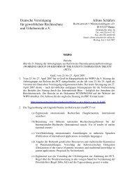 Deutsche Vereinigung für gewerblichen Rechtsschutz und ... - GRUR