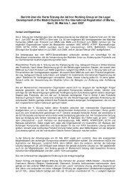 Bericht über die Vierte Sitzung der Ad hoc Working Group ... - GRUR