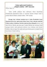 """Seime apdovanoti konkurso """"Žalgirio mūšiui – 600"""" laureatai"""