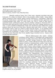TEATRO ŠVIESOJE - Kauno Juozo Grušo meno vidurinė mokykla