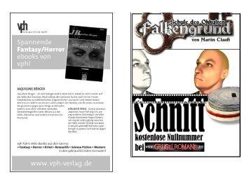 """Falkengrund 0 """"Schnitt"""" - Gruselromane"""