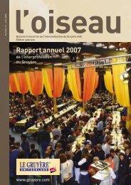 Rapport annuel 2007 - Le gruyère