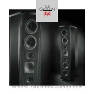 the gryphon trident reference loudspeaker system - Gryphon Audio ...