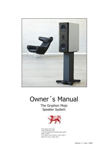 PDF Manual Size - Gryphon Audio Designs