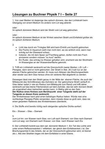 Lösungen zu Buchner Physik 7 I – Seite 27 - grzesina.de