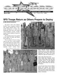 SFS Troops Return as Others Prepare to Deploy - Grzly.org