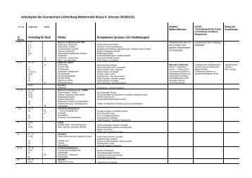 Arbeitsplan der Grundschule Lichtenberg Mathematik Klasse 4 ...