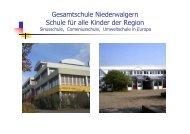 Gesamtschule Niederwalgern Schule für alle Kinder der Region