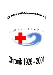 Chronik hier downloaden - DRK Ortsverein Deuz ev