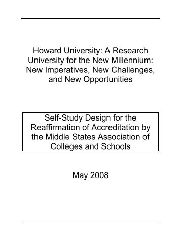 Self-Study Design - Howard University, Graduate School