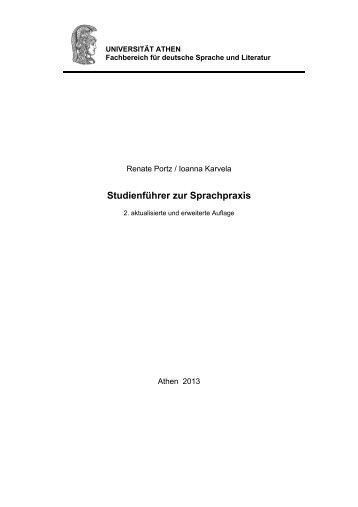 Studienführer zur Sprachpraxis - Τμήμα Γερμανικής Γλώσσας και ...