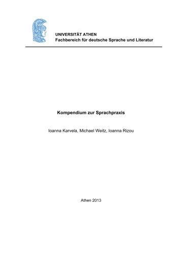 Kompendium zur Sprachpraxis