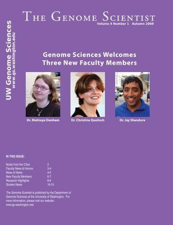 The Genome Scientist - Genome Sciences - University of Washington