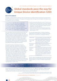 White Paper on UDI implementation - GS1