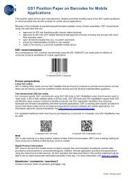 GS1 Position Paper on Barcodes for Mobile Applications