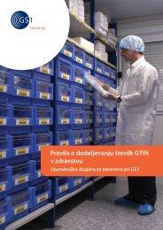 Pravila o dodeljevanju številk GTIN v zdravstvu - GS1