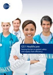 GS1 Healthcare – Raising the bar on patient safety and supply chain ...