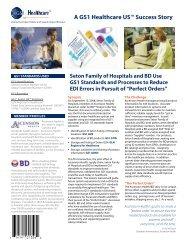 Seton Family of Hospitals / BD Success Story - GS1 US