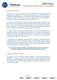 Healthcare Supply Chain Traceability (White Paper) - GS1