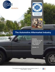 The Automotive Aftermarket Industry - GS1 Australia