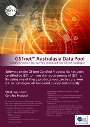 GS1net Certified Products flyer - GS1 Australia